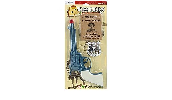 kids sherrif western zorro toy gun with mask and badge stocking filler Cowboy