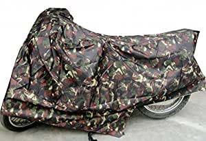 SUZUKI ACCESS SCOOTER SCOOTY BODY COVER WITH MIRROR POCKET MILTERY PRINT.