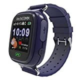 #4: S. Gadgets Smart Watch for Kids (WIFI), GPS Tracker Sim Card Smartwatch Phone Anti-lost Finder with SOS Call Children Wristwatch Fitness Tracker Bracelet with Parents Control App for Android IOS (Blue)
