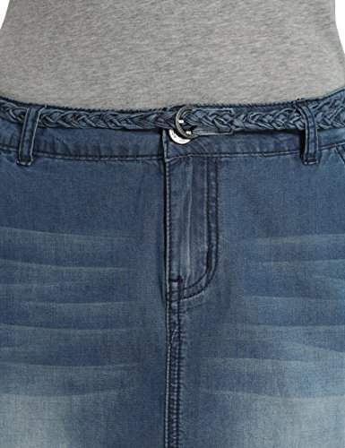 Berydale Gonna jeans da donna, Blu Scuro, 42