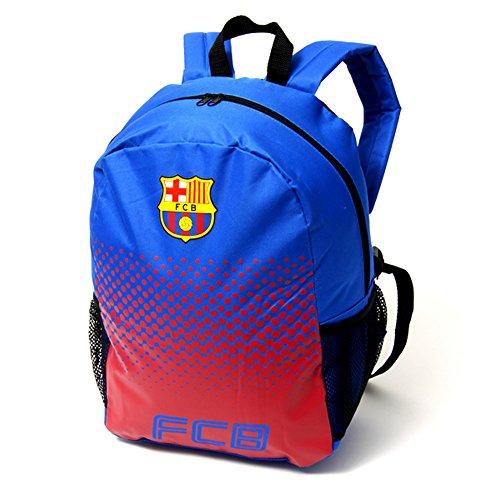 FC Barcelona Fade Rucksack mit Club Wappen Blau/Rot