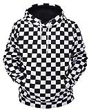 Ocean Plus Herren Casual Kapuzenpullover Aufdruck Pulli Motiv Hoodie Tierdruck Sweatshirt Streetwear Pullover mit Kapuzen Herrenhemd (L (Brustumfang: 115CM), Nationalflagge)