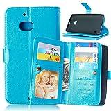 Happy-L-Fall Für Nokia Lumia 930, einfarbig Premium PU Leder Geldbörse Magnetische Schnalle Design Flip Folio Schutzhülle Abdeckung Eingebaute 9 Kartensteckplätze & Ständer (Farbe : Blau)