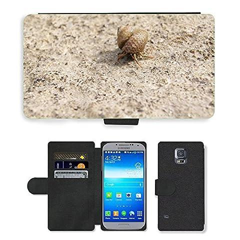 hello-mobile PU LEDER LEATHER FLIP CASE COVER HÜLLE ETUI TASCHE SCHALE // M00136633 Einsiedlerkrebs Shell Snail Meer Natur // Samsung Galaxy S5 S V SV i9600 (Not Fits S5 ACTIVE)