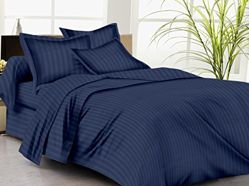 Trance Home Linen 100% Cotton 200TC Satin Stripe Single Duvet Cover with...