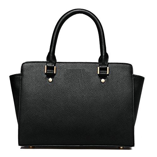 Syknb Tasche Handtasche Umhängetasche Tasche Einfach Black