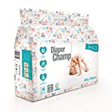 #7: Diaper Champ Baby Diapers, Large Size, 9 to 14kg, Chlorine & Paraben Free (36 Count)