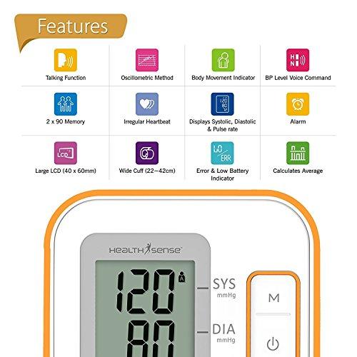 Healthsense-BP100-Heart-Mate-Classic-Fully-Automatic-Digital-Talking-Blood-Pressure-Monitor-WhiteOrange