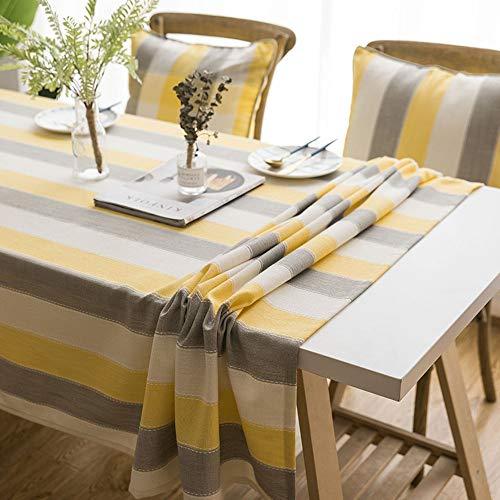 WXQQ Geeignet für Räume und Außenbereiche, abwaschbare und verblassungsfreie Tischdecken Polyester stripe01 140x180cm