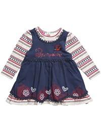 Pampolina Baby Girls' Crew Neck Long - regular Dress