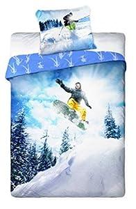 Snowboard Ski Sport de Glisse Bettwäsche, 140 x 200 cm, Baumwolle