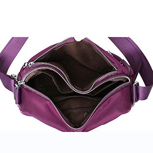 Messenger Bag Ladies Cloth Travel Leisure impermeabile Nylon Spalla Purple