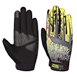 Riders Trend 10010105 Cross Country/Motocross Bicycle Riding Gloves, Guanti Uomo, Black/Yellow, XL