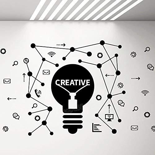 Große Größe Aufkleber Kreative Idee Arbeiter Vinyl Wandaufkleber Dekoration für Büro Schule Klassenzimmer Jugendliche Schlafzimmer Dekor 94 * 57 cm