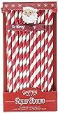 Ginger Ray Christmas Cheer gestreift Vintage Party Papier Trinkhalme und Flaggen, rot
