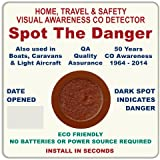 Carbon Monoxide (CO) Detector Visual Monitor - Great for travel or around the home. 50 Year Anniversary Special Edition Design