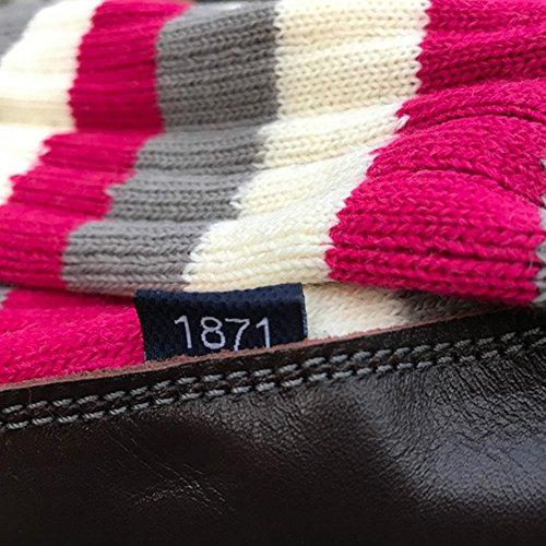 Black & Blue 1871 - Clapham Rovers -Calzini a pantofola - Uomo Ciliegia/Grigio/Bianco