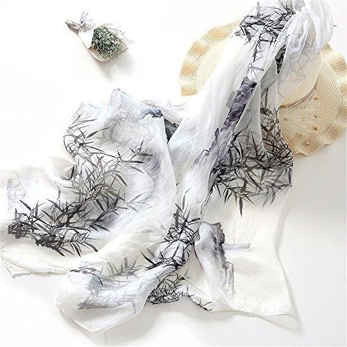 Badetücher Schals Wraps Kissen Stranddecken Dünne Seidentücher Strandschals Schals Sonnencreme Tücher Tuschemalerei aus Bambus