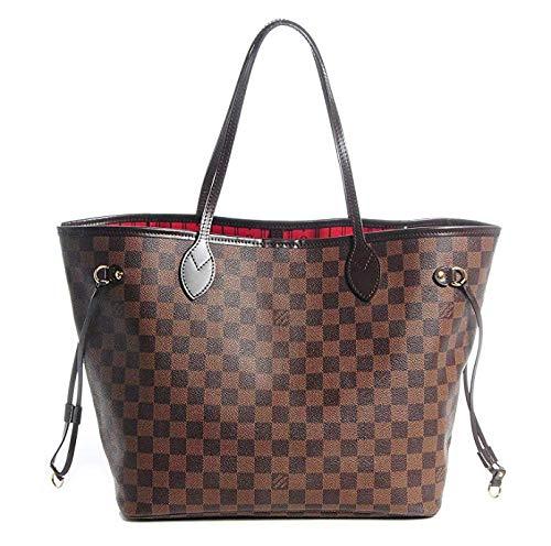 Noah Birch Neverfull Style Damier Tote Schulter Große Kapazität Einkaufstasche Weiblichen Beutel Schachbrett Frauen Organizer Handtasche Schulter Mode Tasche -