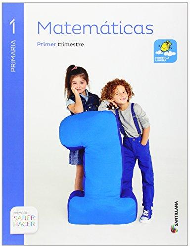 Matemáticas Mochila Ligera 1 Primaria Saber HacerPack de 3 libros