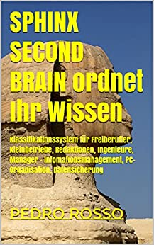SPHINX SECOND BRAIN ordnet Ihr Wissen: Klassifikationssystem für Freiberufler, Kleinbetriebe, Redaktionen, Ingenieure, Manager -  Infomationsmanagement, PC-Organisation, Datensicherung (INTELLOG 2) von [Rosso, Pedro]