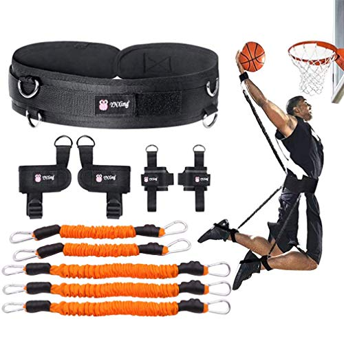 YNXing Strength Training Rope per Boxe, Basket, Scherma Allenamento Resistenza Corda Blu Stretch Cord Tensione Corda Attrezzature per il fitness