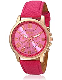 Geneva Collection Pink Dial Analog Watch For Women-GNV-0011-Pink