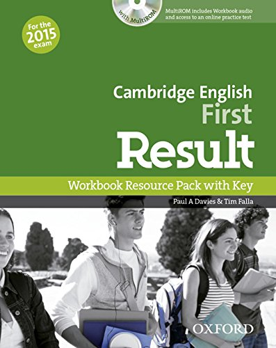 Cambridge English: First Result: First Certificate in English Result Workbook With Answer Key+CD-R Pack Exam 2015