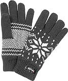 normani Thermo Strick Handschuhe mit Thinsulate Futter Unisex - Erwachsene mit Norweger Motiv Farbe Grau Größe One Size