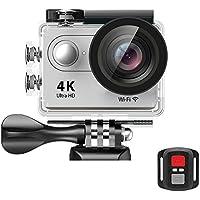 EKEN H9R Wifi 4k Action Camera Sport Impermeabile con 2 batteria + Charging dock + bastone selfie (Silver)