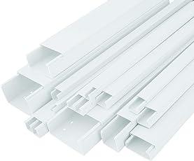 StilBest Kabelkanal 2m 120 x 60 mm Schraubbar PVC Installationskanal für Wand und Decken Montage Allzweck Kabelleiste Weiß