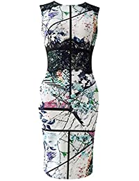 Yodensity Robe Crayon De Cocktail Jupe Mariage Femme Vintage Pin Up