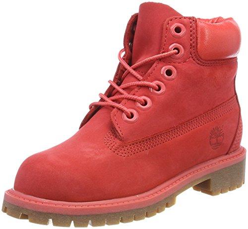 Timberland Unisex Kinder 6 Inch Premium Waterproof Klassische Stiefel, Rot (Tomato Waterbuck L61), 34,5 ()