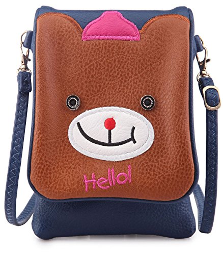 Big Handbag Shop - Borsa a tracolla bambina (Blu)