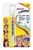 Edding 4-47F-1-1 Funtastics Face Fun - Schminkstift - 7 Farben - Ideal für Körperbemalungen von Kindern und Erwachsenen