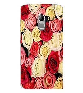 PrintDhaba Roses D-2152 Back Case Cover for LENOVO K4 NOTE A7010 (Multi-Coloured)