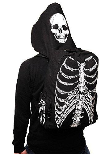 Banned Apparel Squelette Impression Sac à dos avec capuche