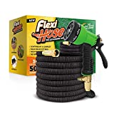 "FlexiHose Upgraded Expandable 50 FT Garden Hose, Extra Strength, 3/4"" Solid Brass Fittings"