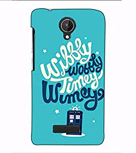 Fuson Designer Back Case Cover for Micromax Canvas Spark Q380 (Wibbly Wobbly Theme)