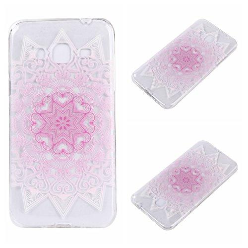 Qiaogle Telefon Case - Weiche TPU Case Silikon Schutzhülle Cover für Apple iPhone 7 (4.7 Zoll) - DD04 / Grün Blume DD20 / Pink Blume
