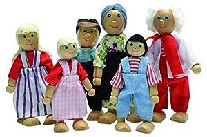 Beluga Spielwaren GmbH 70134 muñeca para casa de muñecas - Muñecas para casa de muñecas (120 mm, 6 Pieza(s), Multicolor, Madera)