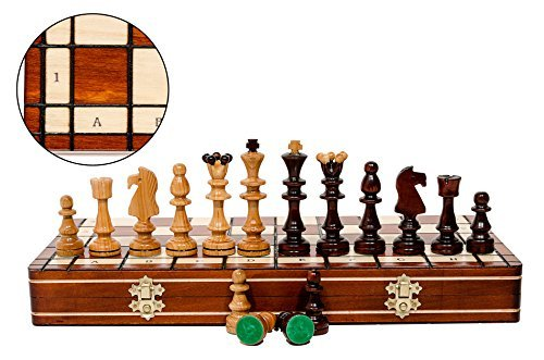 Large OLYMPIC 40cm / 15.75in Sweet Cherry Wooden Chess Set by Master Of Chess -