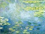 Poster 80 x 60 cm: Seerosenteich von Claude Monet - Hochwertiger Kunstdruck, Kunstposter