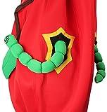 Apfel Kostüm rot-grün für Erwachsene | Einheitsgröße | 1-teiliges Obst Kostüm für Karneval | Apfelkostüm Unisex Faschingskostüm -