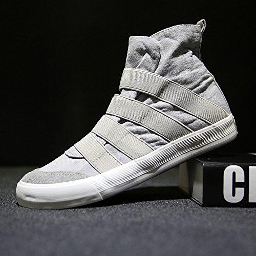 Los Zapatos De Moda Casuales Son Espadrillis Altos Para Ayudar A Los Jóvenes A Sentirse Cómodos Espadrilli De Ocio Gris