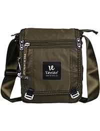 URBAN KINGS VE-VERITE Nylonmatty Messenger Bag - Vintage Cross Body Shoulder Satchel,bag Is Perfect For Travelers...