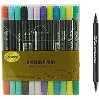Lanxivi-Pennarelli con punta a pennello con inchiostro, 24 r per pittura con acquerelli, pennarelli con base, ideale per artisti, acquerelli, disegnare, colorare 24