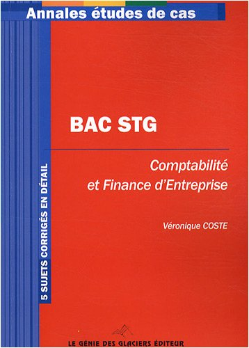 Epreuve écrite de la spécialité CFE Bac STG