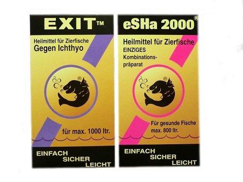 Heilmittel Set für Zierfische eSHa Exit 20ml & eSHa 2000 20ml