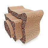 HOUYAZHAN High-Density Wellpappe Cat Scratch Board dreiteilige Set Katze...